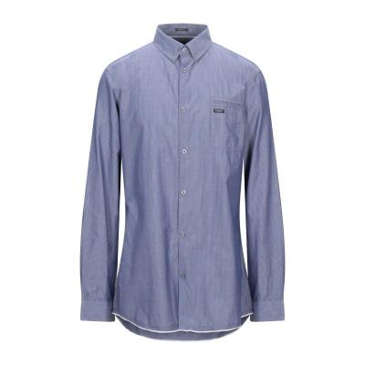 ゲス GUESS シャツ ダークブルー XS コットン 100% シャツ