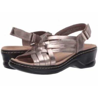 Clarks クラークス レディース 女性用 シューズ 靴 ヒール Lexi Carmen Pewter Metallic Leather【送料無料】
