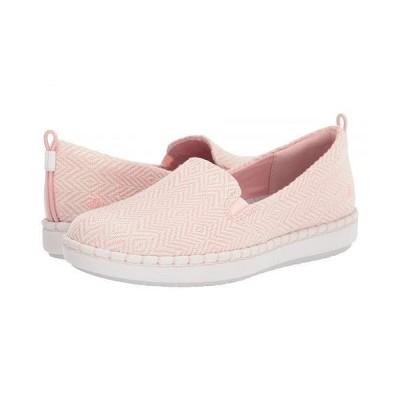 Clarks クラークス レディース 女性用 シューズ 靴 スニーカー 運動靴 Step Glow Slip - Pink/White Textile
