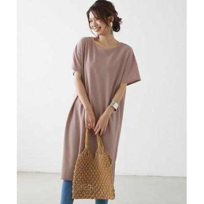 キレイ見えカットソー 後タックワンピース (ワンピース)Dress
