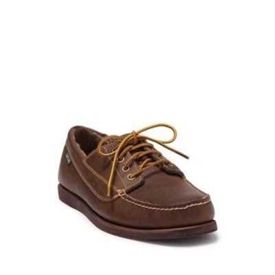 イーストランド メンズ スリッポン・ローファー シューズ Falmouth Leather Lac-Up Moc Loafer DARK TAN