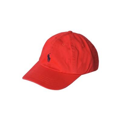 POLO RALPH LAUREN 帽子 レッド one size コットン 100% 帽子