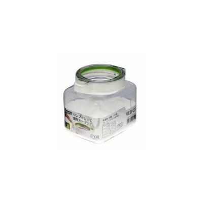 岩崎工業 食品保存容器 キーポット 1.1L ホワイトグリーン A-1082WG