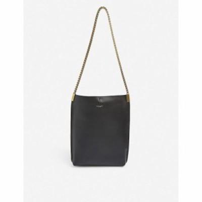 イヴ サンローラン SAINT LAURENT レディース ショルダーバッグ ホーボー レザー バッグ Chain-Strap Small Leather Hobo Bag BLACK