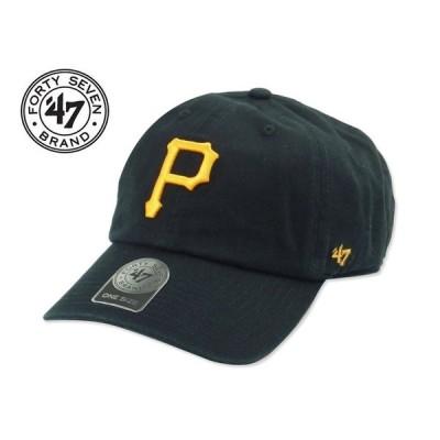 ☆47BRAND【フォーティーセブンブランド】Pittsburgh Pirates CLEAN UP CAP BLACK ピッツバーグ パイレーツ 13625