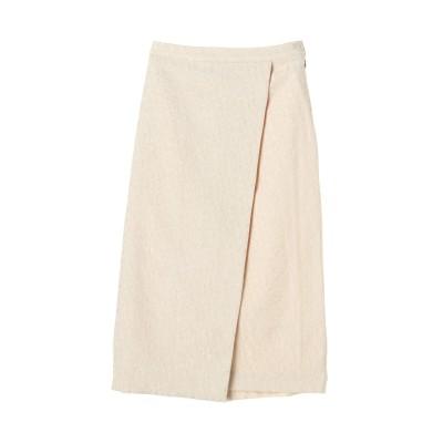 ジャガード巻きスカート