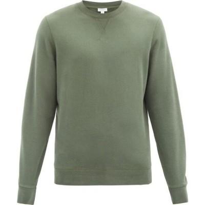サンスペル Sunspel メンズ スウェット・トレーナー トップス Crew-neck cotton-jersey sweatshirt Navy