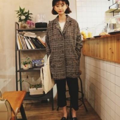 ツイード コート アウター コート レディースファッション コート 冬 アウター レディース 秋冬 アウター 韓国 ファッション レディース