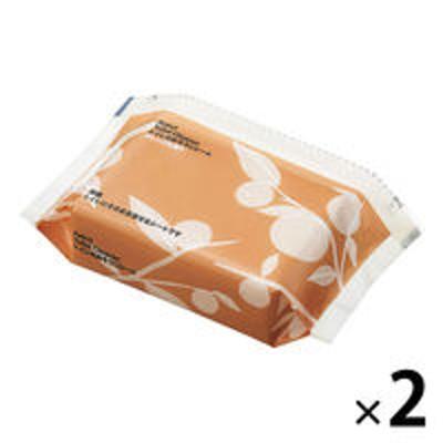 アスクルトイレのおそうじシート オレンジの香り ファスナー付き 1セット(2個) アスクル
