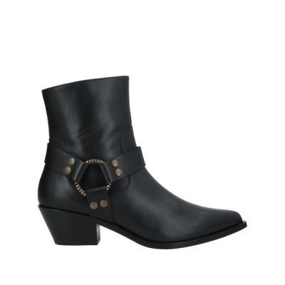 PAOLA D'ARCANO ショートブーツ ファッション  レディースファッション  レディースシューズ  ブーツ  その他ブーツ ブラック