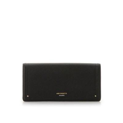 アンドシュエット & chouette 新型シンプルかぶせ長財布 (ブラック)