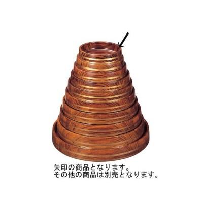 寿司 D.X富士型桶 紫檀帯金 底黒塗 7寸 [22φ x 5.5cm] ABS樹脂 (7-460-12) 料亭 旅館 和食器 飲食店 業務用