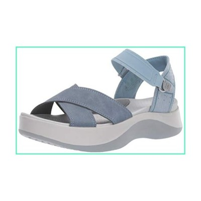 BZees Washable Womens Poppy Stone Blue Seer Sucker Ankle Straps 8.5 M並行輸入品