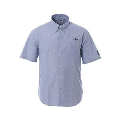 (シナコバ) SINA COVA 半袖ボタンダウンシャツ メンズ ビジネス カジュアル ブロードマリン 10004510 (ブルー系 LL)
