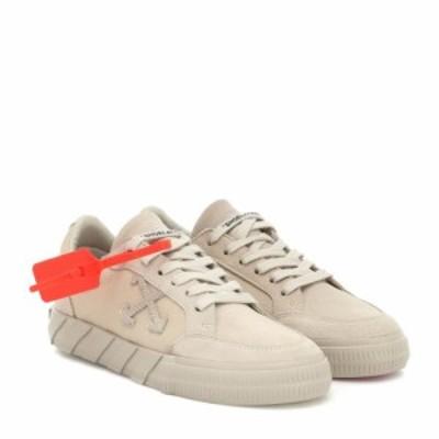 オフホワイト Off-White レディース スニーカー シューズ・靴 Low Vulcanized suede sneakers Beige Beig