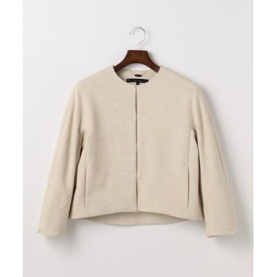 ジャケット ブルゾン martinique/ノーカラーツィードジャケット