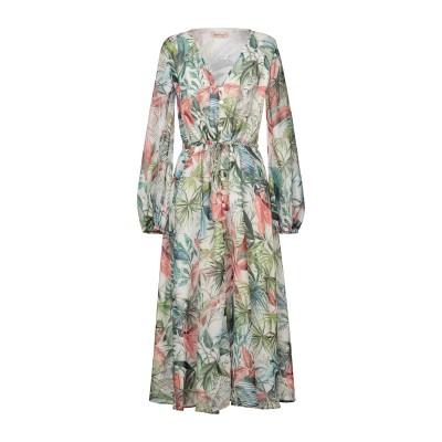 BLACK CORAL 7分丈ワンピース・ドレス グリーン 38 ポリエステル 100% 7分丈ワンピース・ドレス