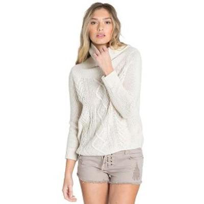 ビラボン レディース ニット・セーター アウター Billabong Women's Off Shore Sweater Cream