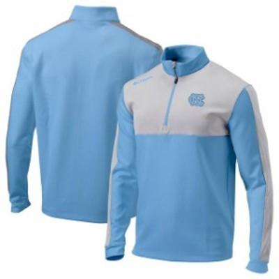 Columbia コロンビア スポーツ用品  Columbia North Carolina Tar Heels Carolina Blue Omni-Wick Waggle Quarter-Zip Pullover Jacket