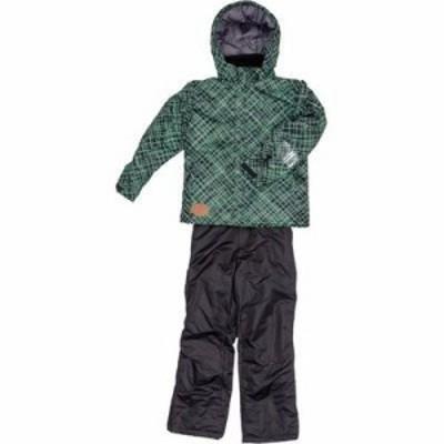 ジョイライド JOB-3334-GR130 子供用 ジュニア スキー スノボー ウェア 上下セット (緑色130) (対象身長115cm~135cm) (JOB3334GR130)