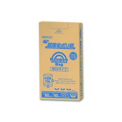 オルディ レインボーバッグBOX 70L 100枚 RBB-N70-100 / オフィス用品 生活用品 家電 / 54474