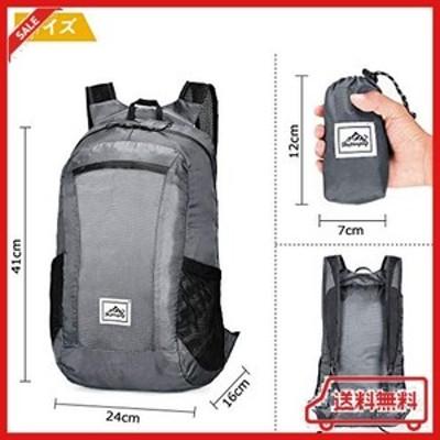 アウトドアバックパック ポケッタブル リュック サック バッグ 折りたたみ 超軽量 大容量 防水性pu2000+ アウトドア 収納袋 付き 収納性