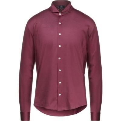 バルバ BARBA Napoli メンズ シャツ トップス solid color shirt Garnet