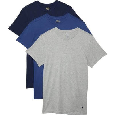 ラルフ ローレン Polo Ralph Lauren メンズ Tシャツ 3点セット トップス Slim Fit w/ Wicking 3-Pack Crews Andover Heather/Bali Blue/Cruise Navy