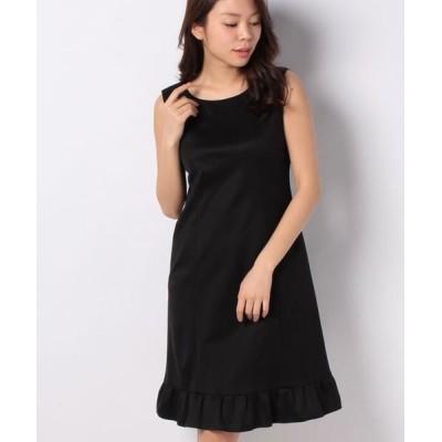 MISS J/ミス ジェイ レーヨンポンチ ドレス ブラック 38