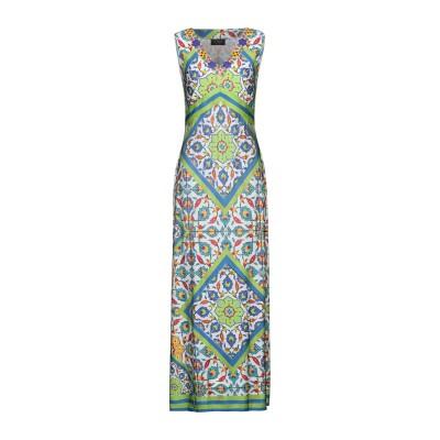 CLIPS ロングワンピース&ドレス ブルー XL レーヨン 91% / ポリウレタン 9% ロングワンピース&ドレス