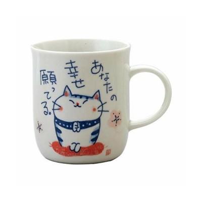 福猫マグカップ(祈願) K7134