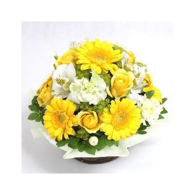 御祝 花 フラワーギフト 送料無料 誕生日 宅配  アイスクリームレモンアレンジ