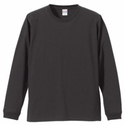 Tシャツ 長袖 メンズ ハイクオリティー リブ付 5.6oz L サイズ SUMI 無地 ユナイテッドアスレ CAB