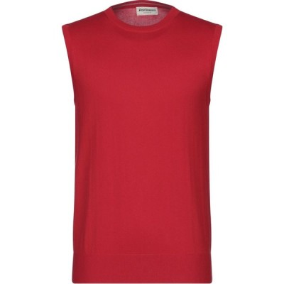 ロイロジャース ROY ROGER'S メンズ ベスト・ジレ トップス sleeveless sweater Red