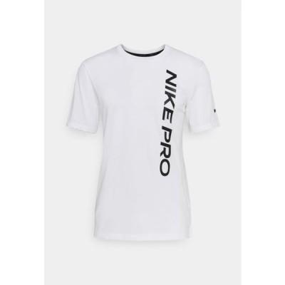 ナイキ メンズ スポーツ用品 BURNOUT - Print T-shirt - white/black