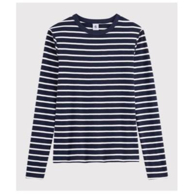 tシャツ Tシャツ マリニエールクルーネック長袖Tシャツ