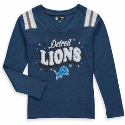 New Era ニュー エラ スポーツ用品  New Era Detroit Lions Girls Youth Royal Starring Role Long Sleeve Tri-Blend V-Neck