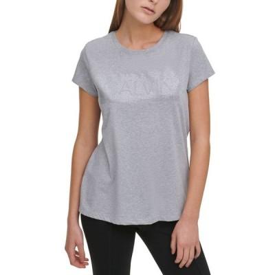 カルバンクライン レディース シャツ トップス Logo-Embellished Crewneck T-Shirt