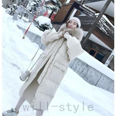 中綿ダウンコートロング韓国オルチャン原宿ストリート大人きれいめファーパーカーコンサバ40代30代冬アウターレディース