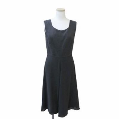 (中古)マックスマーラ シルク コンビ ドレス ワンピース 40 ブラック