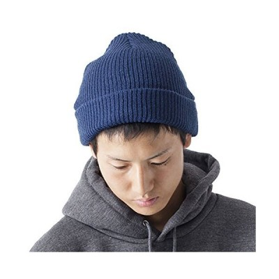 ティーシャツドットエスティー ニット帽 ビーニー ニットキャップ ワッチ メンズ フリーサイズ(55〜60cm) インディゴ