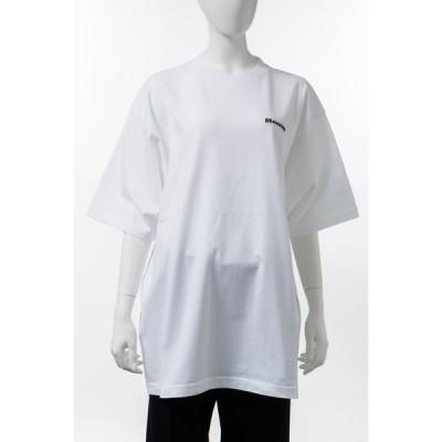 バレンシアガ Tシャツ 半袖 丸首 クルーネック レディース 641655 TJV87 ホワイト 2021年春夏新作 BALENCIAGA