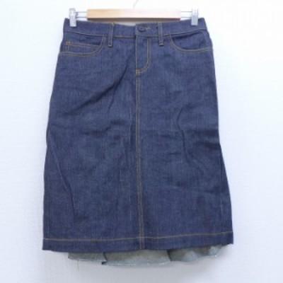 古着 スカート ジューシークチュール USA製 紺 ネイビー デニム 中古 スカート 古着