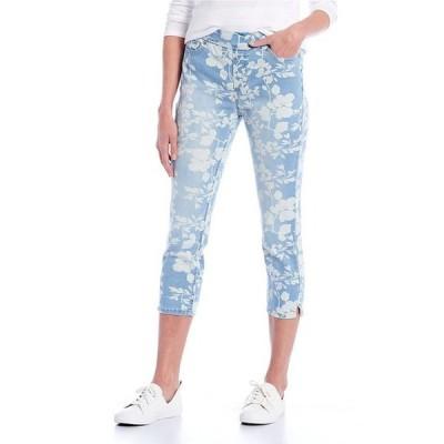 ウエストバウンド レディース カジュアルパンツ ボトムス Petite Size the HIGH RISE fit Vintage Floral Crop Pants