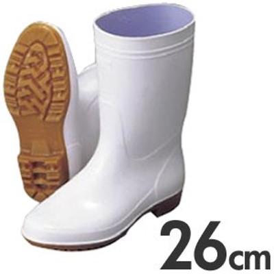 弘進 厨房用長靴(衛生長靴) ゾナG3 耐油性白長靴 26cm