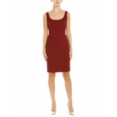 Akris アクリス ファッション ドレス Akris Wool-Blend Sheath Dress 10 Red