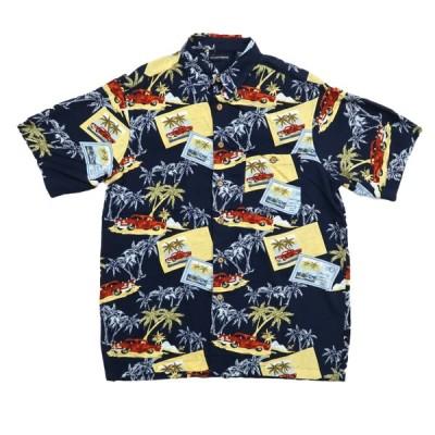 KNIGHTS BRIDGE レーヨン アロハ ハワイアンシャツ オートプリント サイズ表記:L
