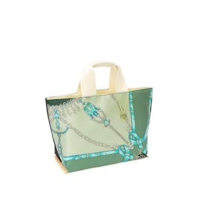 トートバッグ バッグ 日本製 プリント柄 シルク 本革 レディース トートバッグ