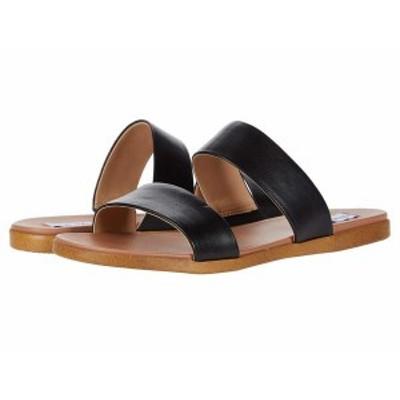 スティーブ マデン レディース サンダル シューズ Dual Flat Sandal Black Leather