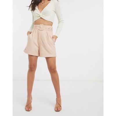 ファッションユニオン Fashion Union レディース ショートパンツ ボトムス・パンツ relaxed tailored shorts ベビーピンク